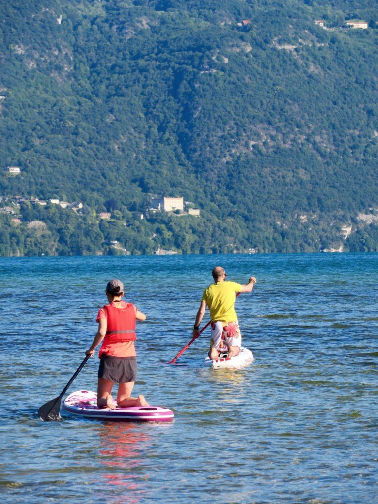 mise à l'eau paddle