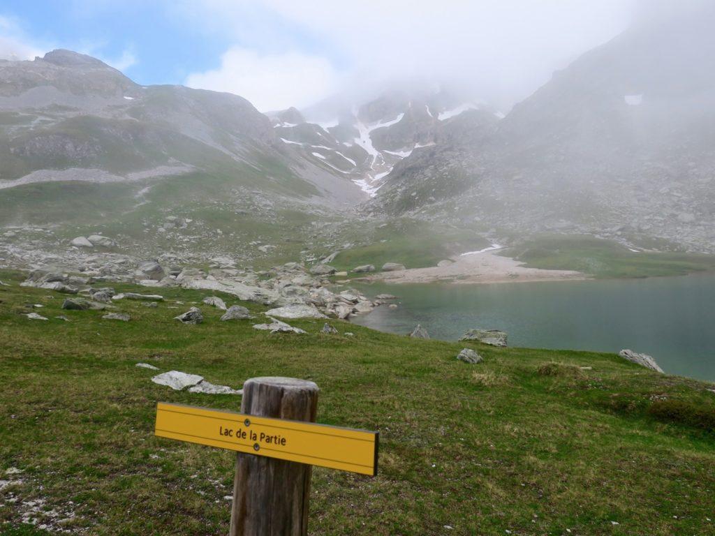 Vers le Col de Chavière, Lac de la Partie