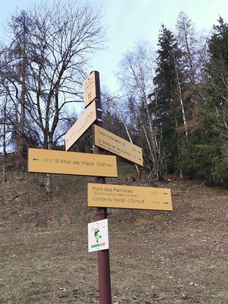 itinéraire vers la Combe du Merlet