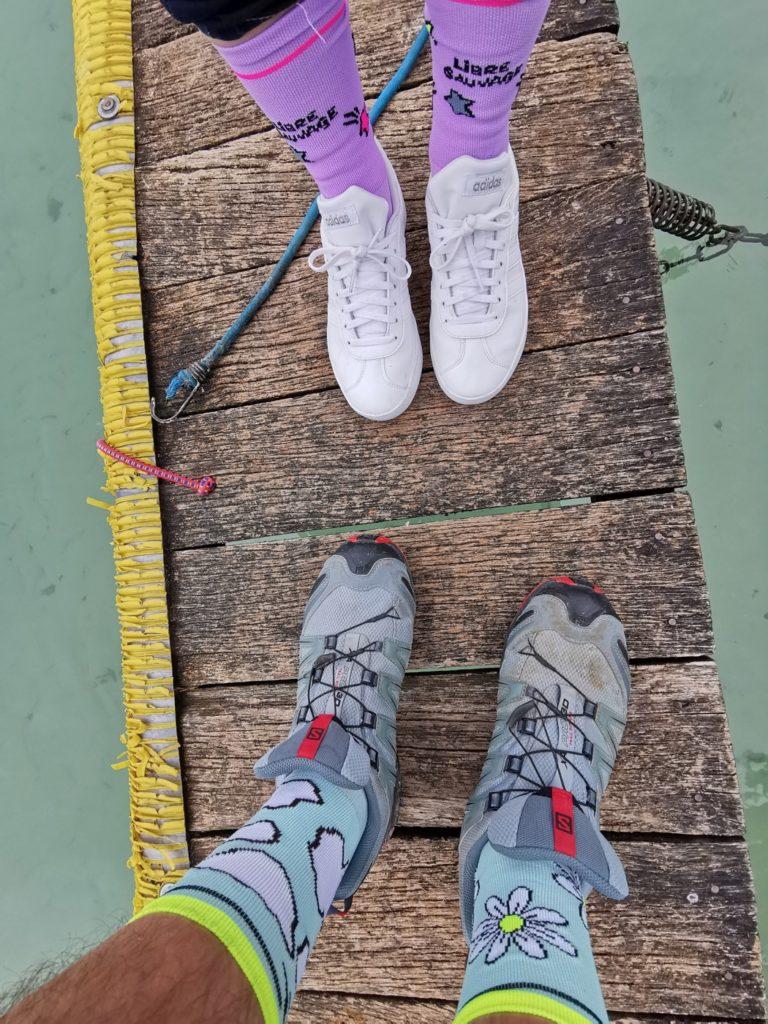 chaussettes pour se balader