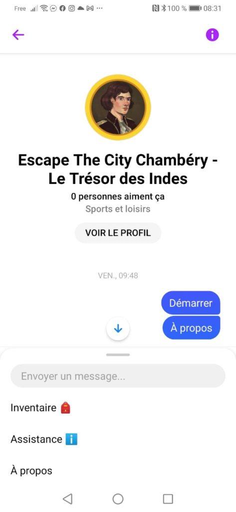 chatbot escape the city